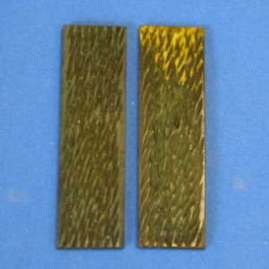 Bone #F21 Green Jigged 1/8 x 1 x 3 1/2 Pair