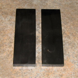 Buffalo Horn Black Smooth 1/2 x 2 x 6 Pair