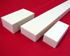 Alternative Ivory  Bar 1 1/4 x 1 5/8 Price Per Inch 12-56 Inch Minimal Order