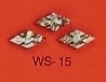 WS 15 Inlay Abalone Small Slotted Diamond (Bag of 25 Pcs.)