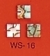 WS 16 Inlay Abalone Large Slotted Square (Bag of 25 Pcs.)