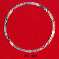 WS 330 Inlay Abalone Rosette 3mm x .060