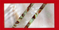 Ws-106 Mother Of Pearl & Green Abalone Blank .050 x 1 x 2