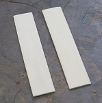 Bone White Flat 1/8 x 1 1/4 x 6 Pair