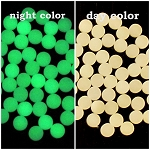 MOON GLOW DOTS NATURAL GREEN 3MM X 3MM BAG OF 25 PCS